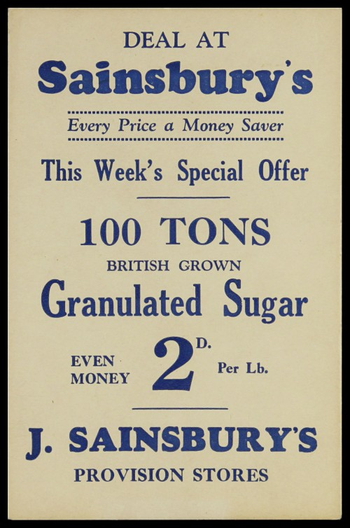 SA/MARK/ADV/3/3/7/8 - 'Deal at Sainsbury's. This Week's Special Offer' card