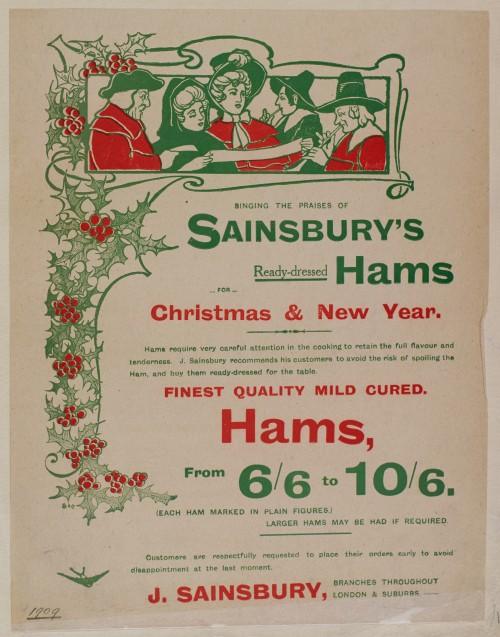 SA/MARK/ADV/1/1/1/1/1/6/1/15 - Christmas hams advertisement, 1909