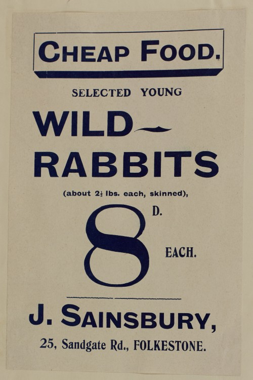 SA/MARK/ADV/1/1/1/1/1/6/1/27 - Wild Rabbits advertisement, 1910
