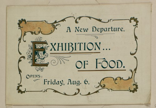 SA/MARK/ADV/1/1/1/1/1/6/1/35 - Invitation to Exhibition of Food and Folkestone branch opening, [1910]