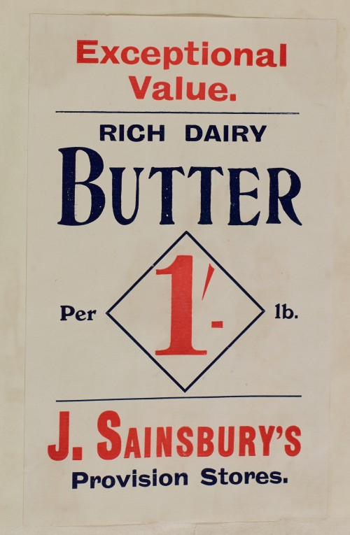 SA/MARK/ADV/1/1/1/1/1/6/1/38 - Advertisement for butter [1910]