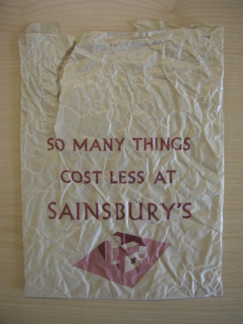 SA/PKC/PAC/6/1/1/6 - So Many Things Cost Less at Sainsbury's paper bag