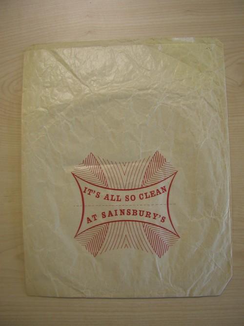 SA/PKC/PAC/6/1/2/9 - It's All So Clean at Sainsbury's paper bag