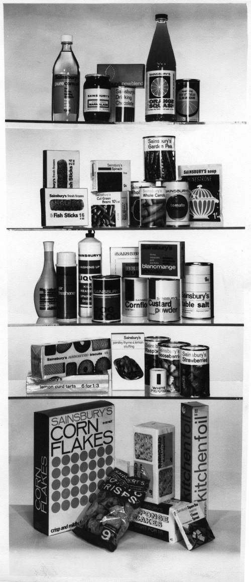 SA/PKC/PAC/8/1/2 - Photograph of various Sainsbury's own brand products, 1960s