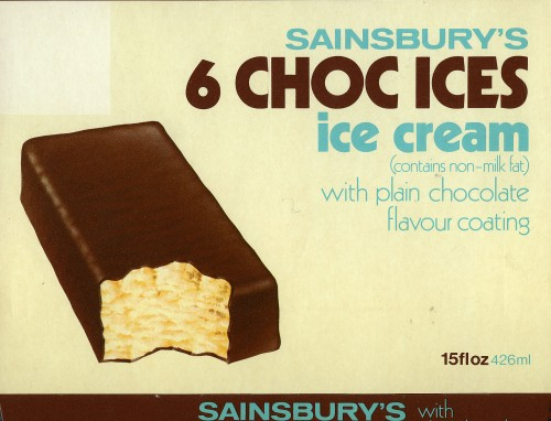 SA/PKC/PRO/1/10/2/1/1/1 - Sainsbury's 6 Choc Ices packaging, c. 1970s