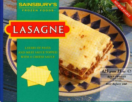 SA/PKC/PRO/1/10/2/2/13 - Sainsbury's lasagne packaging