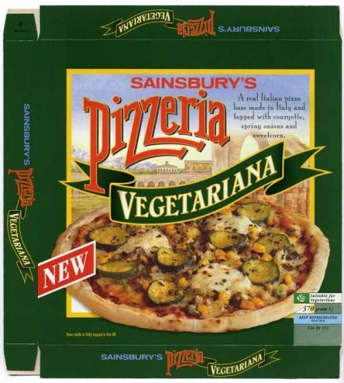 SA/PKC/PRO/1/10/2/2/30/1 - Sainsbury's Pizzeria Vegetariana packaging