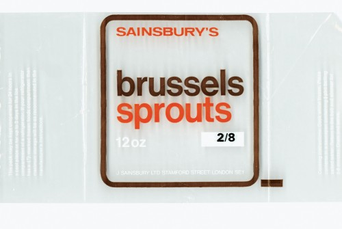 SA/PKC/PRO/1/10/2/4/17/1 - Sainsbury's Brussels Sprouts 12oz (frozen) packet, 1960s