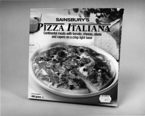 SA/PKC/PRO/1/10/4/a1/1 - Photograph of Sainsbury's Pizza Italiana