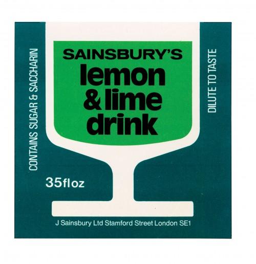 SA/PKC/PRO/1/11/2/2/12/2 - Sainsbury's Lemon & Lime Drink 35floz label, 1970s