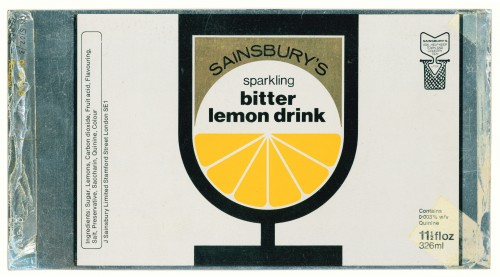 SA/PKC/PRO/1/11/2/2/39/2 - Sainsbury's Sparkling Bitter Lemon Drink 11½floz 326ml proof of can design, 1960s-1970s