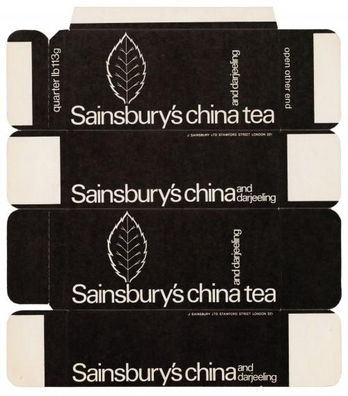 SA/PKC/PRO/1/11/2/3/12/1 - Sainsbury's China and Darjeeling Tea packet, 1970