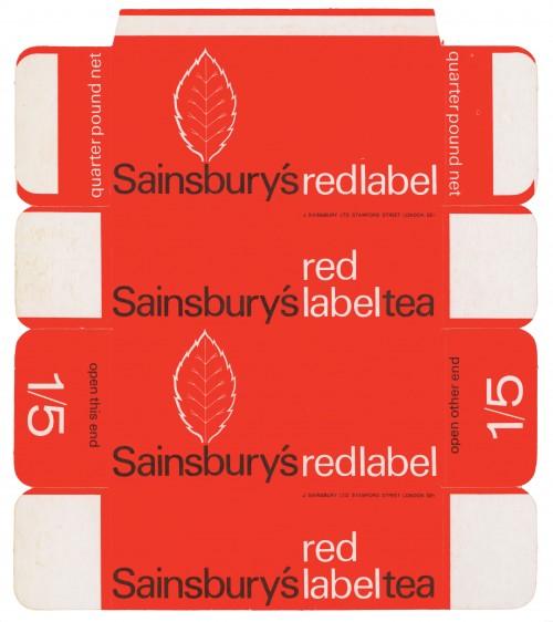 SA/PKC/PRO/1/11/2/3/2/3 - Sainsbury's Red Label Tea quarter pound packet, 1967