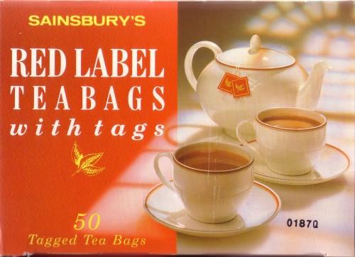 SA/PKC/PRO/1/11/3/3/1/2 - Sainsbury's red label tea bags with tags box