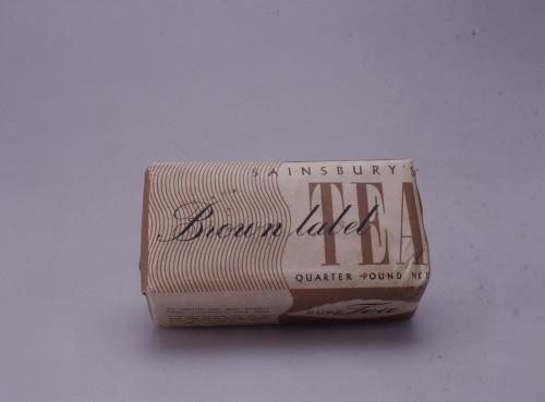 SA/PKC/PRO/1/11/4/a1/8 - Photograph of Sainsbury's Brown Label Tea, c.1940s-1950s
