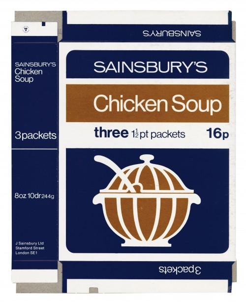 SA/PKC/PRO/1/12/2/1/11/1 - Sainsbury's Chicken Soup packet, 1974