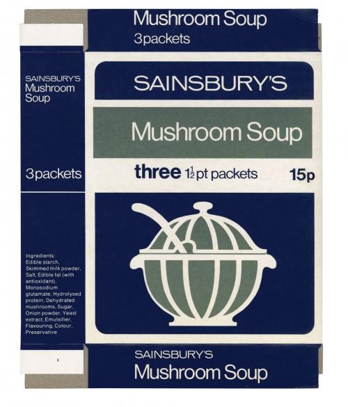 SA/PKC/PRO/1/12/2/1/12/2 - Sainsbury's Mushroom Soup packet, 1973