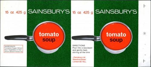 SA/PKC/PRO/1/12/2/1/14/1 - Sainsbury's Tomato Soup proof of label