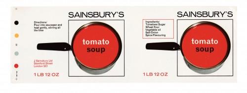 SA/PKC/PRO/1/12/2/1/14/2 - Sainsbury's Tomato Soup 1lb 12oz label, 1960s