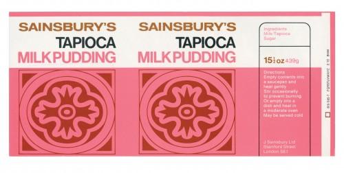 SA/PKC/PRO/1/12/2/1/19/1 - Sainsbury's Tapioca Milk Pudding label