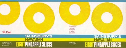 SA/PKC/PRO/1/12/2/2/11/1 - Sainsbury's Hawaiian Eight Pineapple Slices label