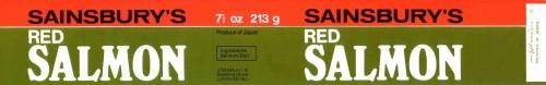 SA/PKC/PRO/1/12/2/3/5/2 - Sainsbury's Red Salmon 7½oz/213g can label