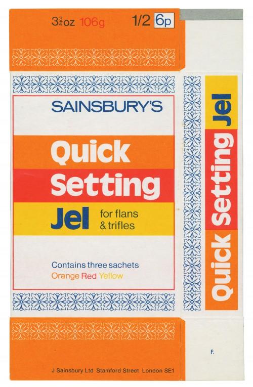 SA/PKC/PRO/1/14/2/2/127/1 - Sainsbury's Quick Setting Jel cardboard packet