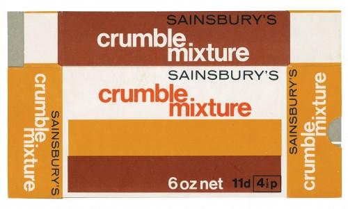SA/PKC/PRO/1/14/2/2/128/1 - Sainsbury's Crumble Mixture cardboard packet
