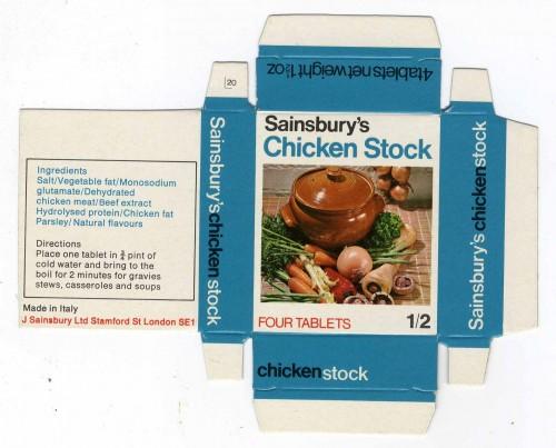 SA/PKC/PRO/1/14/2/2/43/2 - Sainsbury's Chicken Stock box c. 1960s