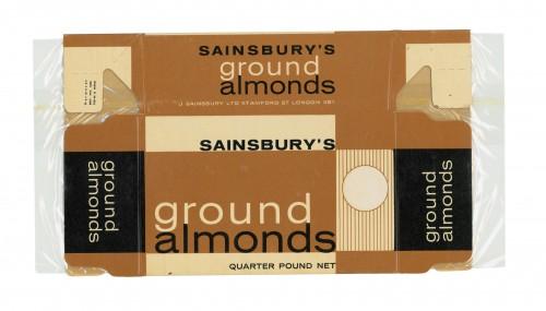 SA/PKC/PRO/1/14/2/2/55/1 - Sainsbury's Ground Almonds quarter pound packet, 1960s