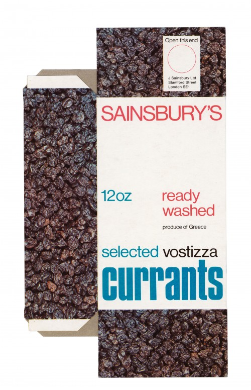 SA/PKC/PRO/1/14/2/2/57/1 - Sainsbury's Selected Vostizza Currants 12oz packet, c. 1969