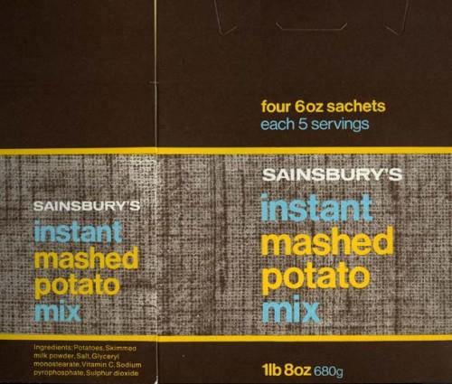 SA/PKC/PRO/1/14/2/2/83 - Sainsbury's instant mashed potato,  instant mashed potato mix packaging