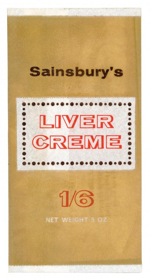 SA/PKC/PRO/1/14/2/4/88/1 - Sainsbury's Liver Creme 5oz packet (1/6), 1960s