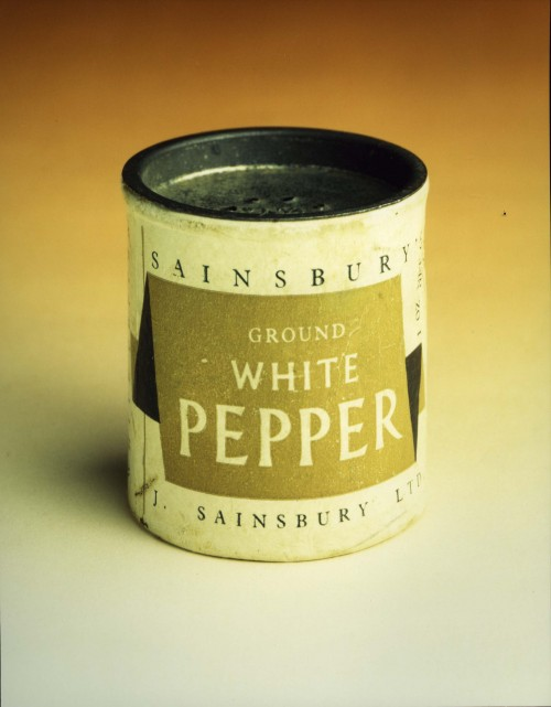 SA/PKC/PRO/1/14/4/a4/1 - Photograph of Sainsbury's Ground White Pepper pot designed by Leonard Beaumont