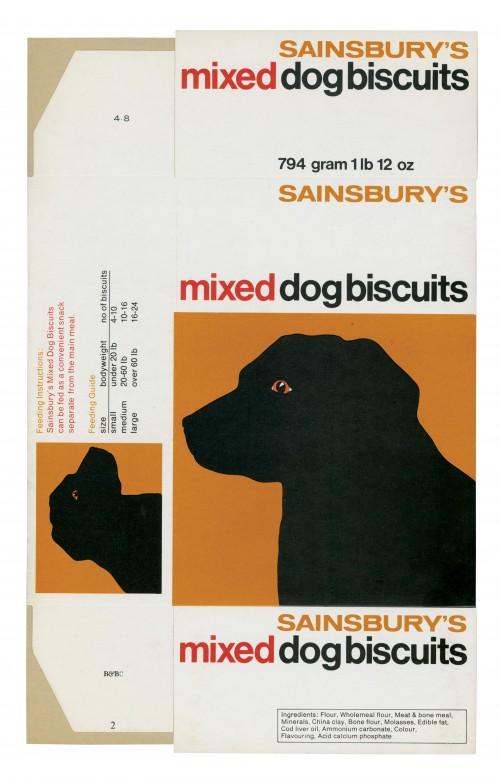 SA/PKC/PRO/1/15/2/6/2 - Sainsbury's Mixed Dog Biscuits 794 gram 1 lb 12 oz packet, 1970s-1980s