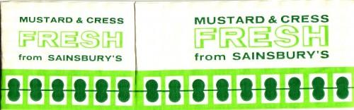 SA/PKC/PRO/1/17/2/7/1 - Mustard & Cress Fresh from Sainsbury's wrapper, 1960s