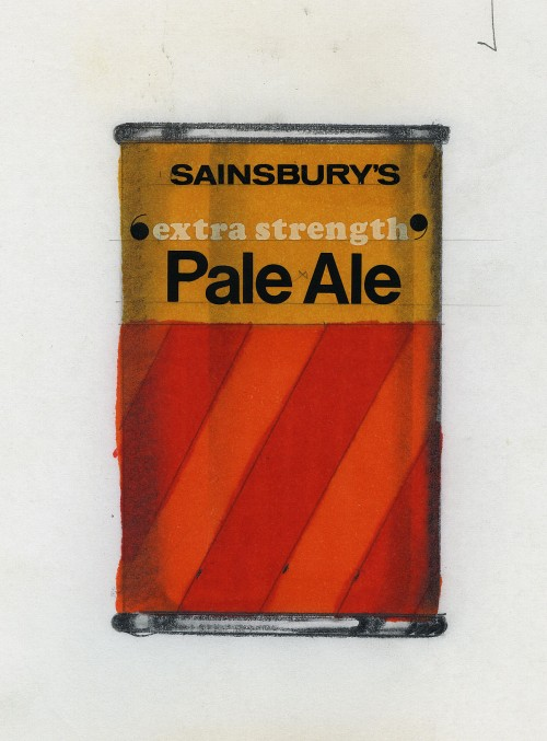 SA/PKC/PRO/1/18/1/11/1 - Sainsbury's Extra Strength Pale Ale can design