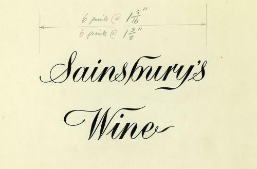 "SA/PKC/PRO/1/18/1/24/1 - ""Sainsbury's Wine"" label design"