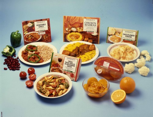SA/PKC/PRO/1/19/4/1/1/3 - Image of Simply Heat & Serve ready meals range - Vegetable Chilli, Chicken Madras, Cauliflower Cheese, and Fresh Pasta Shells in Bolognese Sauce, and Oranges in Caramel with Added Grand Marnier