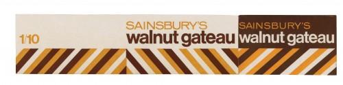 SA/PKC/PRO/1/3/2/2/1/1 - Sainsbury's Walnut Gateau packet, 1960s