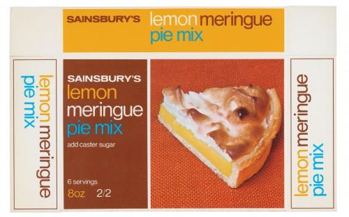 SA/PKC/PRO/1/3/2/3/18/1 - Sainsbury's Lemon Meringue Pie Mix packet, 1969