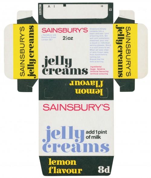SA/PKC/PRO/1/3/2/3/30/1 - Sainsbury's Jelly Creams packet, 1960s