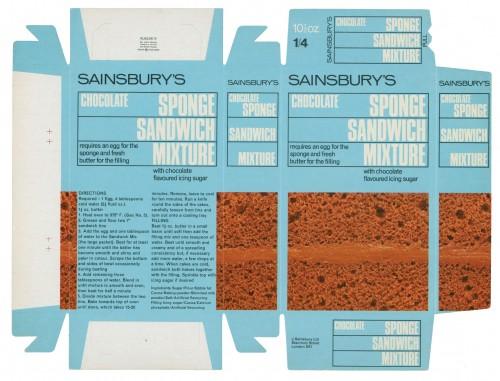 SA/PKC/PRO/1/3/2/3/6/1 - Chocolate Sponge Sandwich Mixture packet, c. 1967