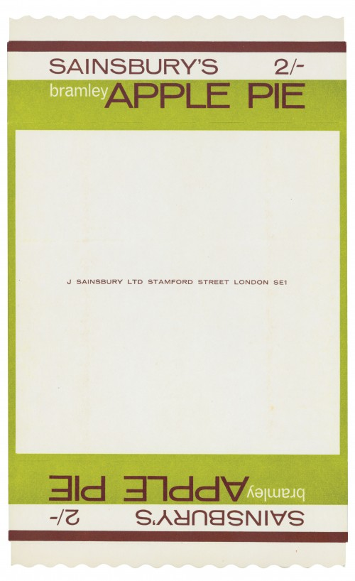 SA/PKC/PRO/1/3/2/4/3/1 - Sainsbury's Bramley Apple Pie packet, 1964