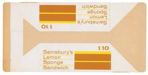 SA/PKC/PRO/1/3/2/7/15/1 - Sainsbury's Lemon Sponge Sandwich packet, 1963