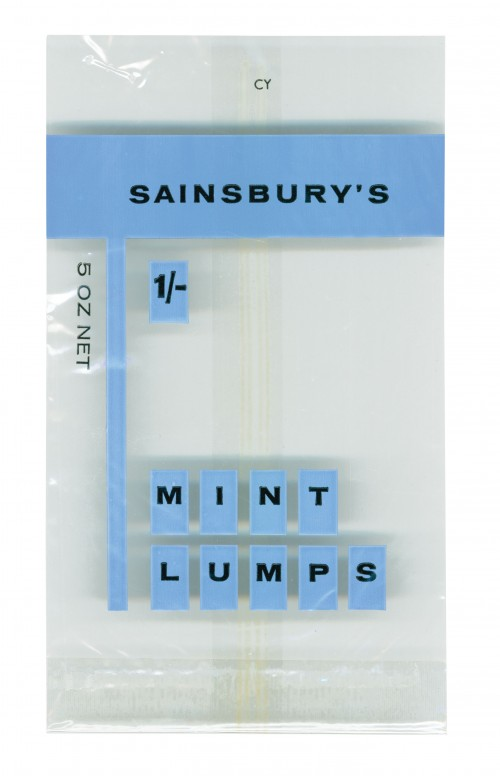 SA/PKC/PRO/1/4/2/2/3/1/1 - Sainsbury's Mint Lumps packet, 1965