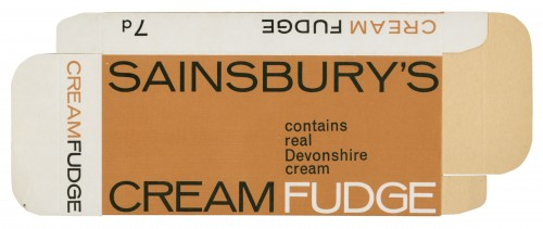 SA/PKC/PRO/1/4/2/2/5/4/2 - Sainsbury's Cream Fudge packet, 1965