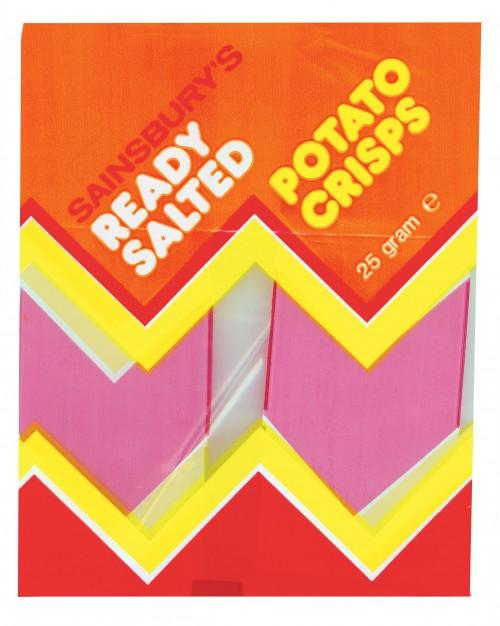 SA/PKC/PRO/1/4/2/3/2/1/1 - Sainsbury's Ready Salted Potato Crisps packet, 1970s-1980s