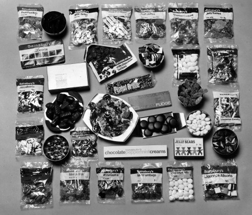 SA/PKC/PRO/1/4/4/a2/2 - Photograph of Sainsbury's own brand confectionery product range, 1970s