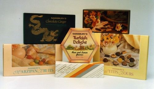 SA/PKC/PRO/1/4/4/a2/3 - Photograph of Sainsbury's own brand confectionery products